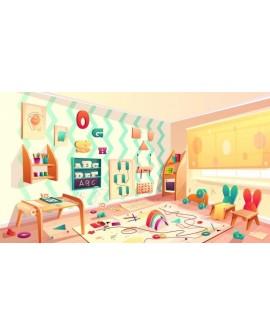 Decoração com papel de parede para quarto infantil